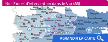 carte zones intervention